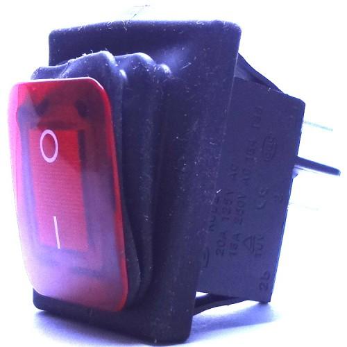 Chave Gangorra KCD2-201N-2-W A Prova D' Agua Vermelha  Com Marcação