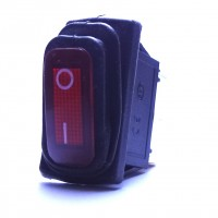 Chave Gangorra KCD3-102N-W A Prova D' Agua Vermelha Com Neom E Marcação