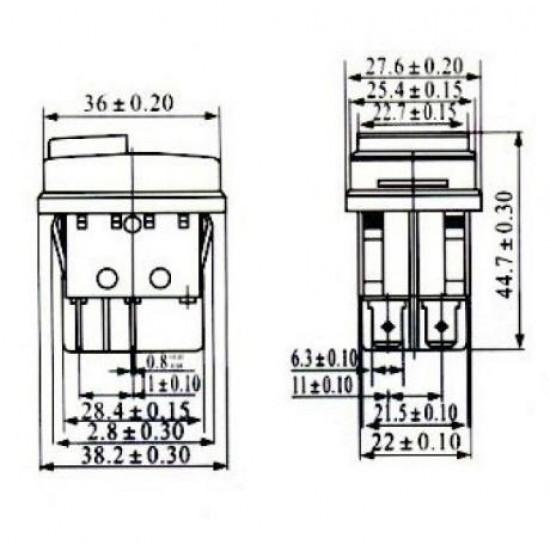Chave Gangorra KCD4-16A (4 Terminais)