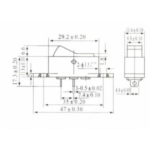 Chave Gangorra KCD7-101 Preta 2 Terminais