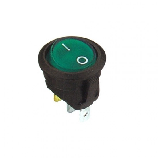 Chave Gangorra KCD1-106A-102N11EBA Verde 3T 6A 250V (L/D Com Neon)
