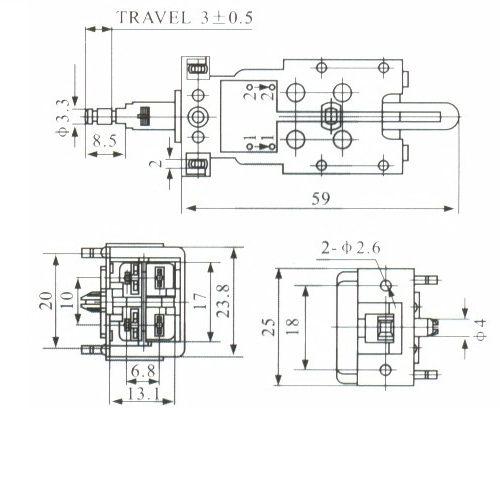 Chave Tecla KDC-A15
