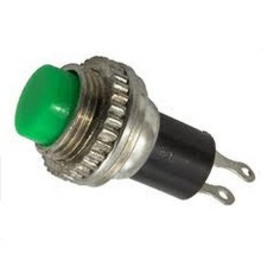 Chave Push Button DS-314 Sem Trava Verde