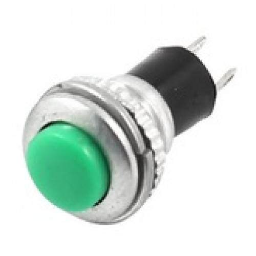 Chave Push Button DS-316 Sem Trava Verde