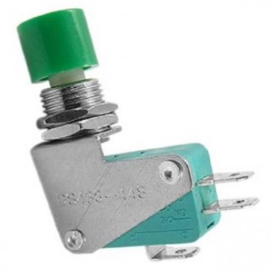 Chave Push Button DS-438 Sem Trava Verde