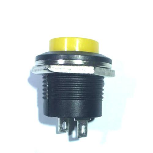 Chave Push Button R13-507 Sem Trava Amarelo
