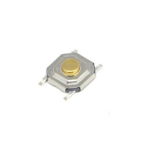 Chave Tactil KFC-A06-4x4x1,5mm Amarela 4 Terminais 180 Graus SMD
