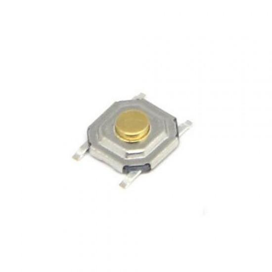 Chave Tactil 4x4x1,5mm Amarela 4 Terminais SMD