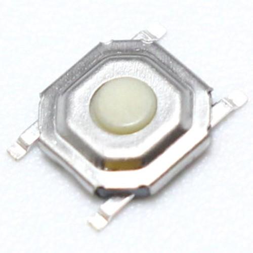 Chave Tactil 4x4x1,5mm Branca 4 Terminais SMD