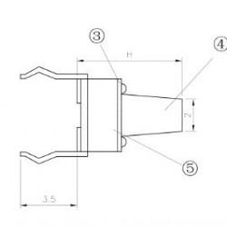 Chave Tactil 6x6x17mm 4 Terminais