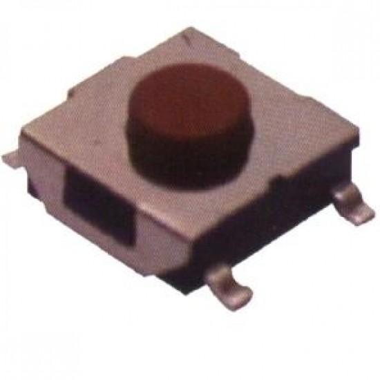 Chave Tactil 6x6x3,1mm 5T 180 Graus SMD Vermelha