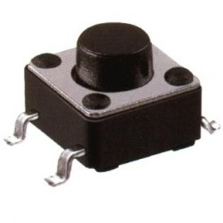 Chave Tactil 6x6x4,3mm 4 Terminais 180 Graus SMD
