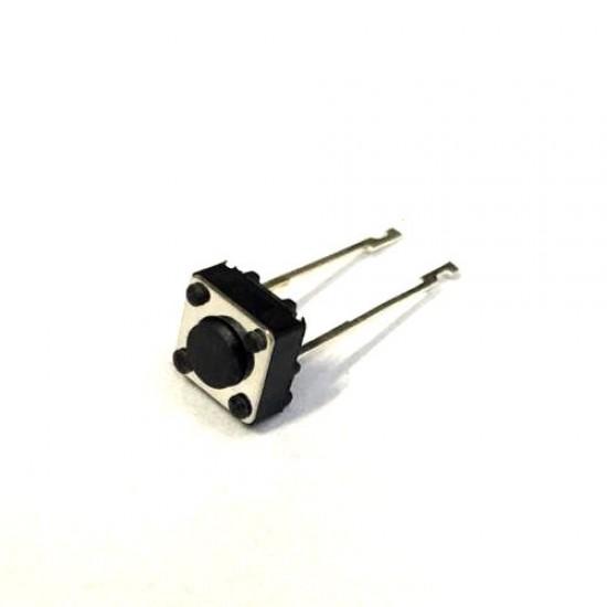 Chave Tactil CJ27 6x6x4,3mm 180 Graus 2 Terminais Longos