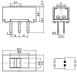 Chave SS-22G93 180 Graus 6 Term. 110-220VAC