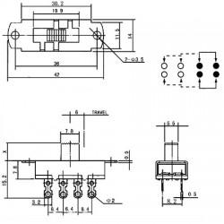 Chave SS-23L04 G5 8 Terminais