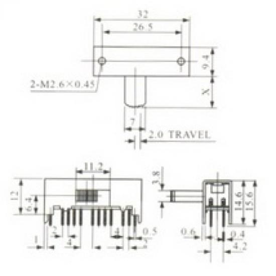 Chave HH SK-63D01 G10 24 Terminais + 4 Fixação 90Graus
