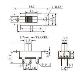 Chave HH Grande Com Alavanca Sem Rosca 3 Posições SS23E28