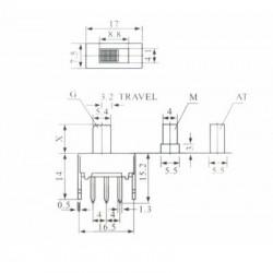 Chave HH SS-22G50 G7 180 Graus 6 Terminais