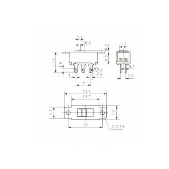 Chave HH SS-22G95 110/220V 6 Terminais Solda Placa