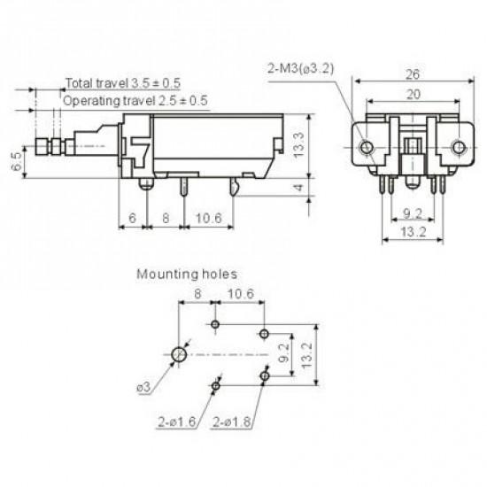 Chave Tecla KDC-A11-2