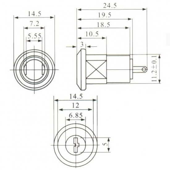Chave Pacri Para Telefone KS-05 Corpo De Aluminio