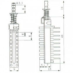 Chave Tecla KZJ-2X6 Sem Trava 18 Terminais