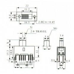Chave HH SS-43D01 G10 16 Terminais + 4 Fixação 180 Graus