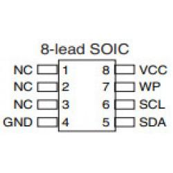 Circuito Integrado 24C16 SMD (ATMLH724-16B/ATMLH14416B)