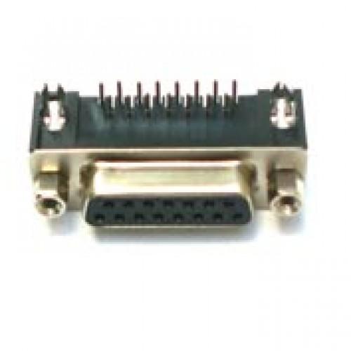 Conector DB15 Femea 90 Graus Solda Placa