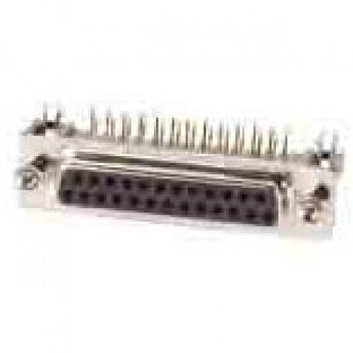 Conector DB25 Femea 90 Graus Solda Placa