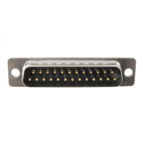 Conector DB25 Macho 180 Graus Solda Fio
