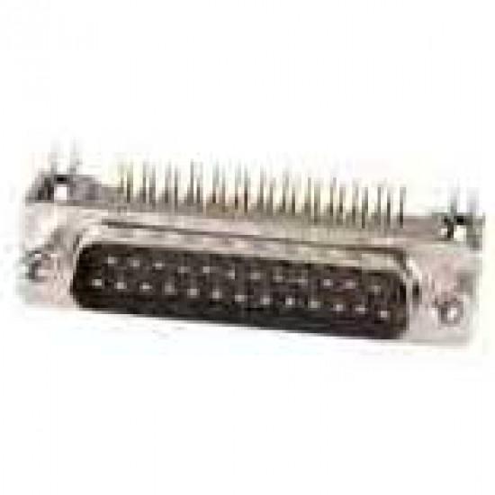 Conector DB25 Macho 90 Graus Solda Placa