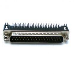 Conector DB37 Macho 90 Graus Solda Placa