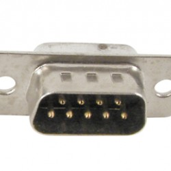 Conector DB9 Macho 180 Graus Solda Fio