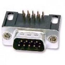 Conector DB9 Macho 90 Graus Solda Placa