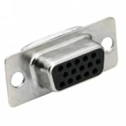 Conector HD15 Femea 180 Graus Solda Fio (DB15 VGA/DE15)