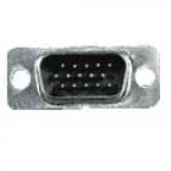 Conector HD15 Macho 180 Graus Solda Fio (DB15 VGA)