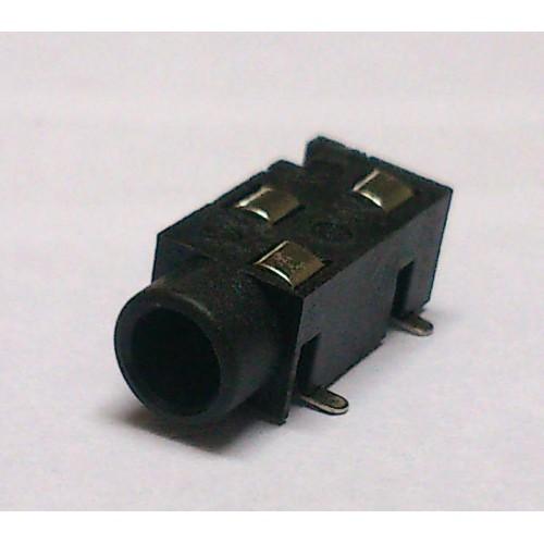 Conector Jack Smd PJ-320B 3,5mm 3T Prata