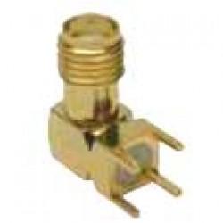 Conector SMAKE - SMA 90 Graus Rosca Curta Femea Para PCI