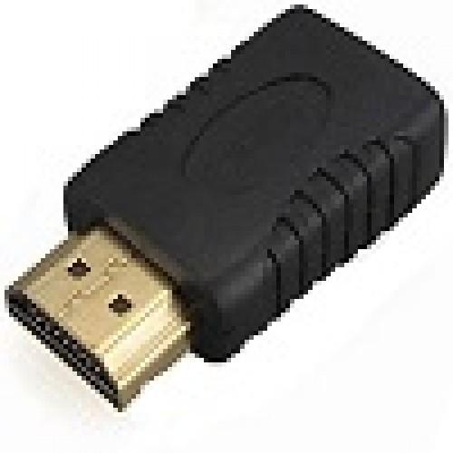 Adaptador HDMI Macho/HDMI Fêmea Gold - 180 Graus