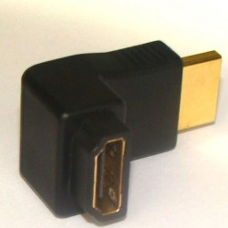Adaptador HDMI Macho/HDMI Fêmea Gold - 90 Graus