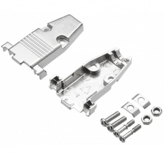 Capa Metálica Para Conector DB9 Com Kit Curto