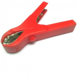 Garra Jacaré Para Bateria Isolada - Vermelho 75mm