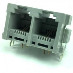 Jack 6P2C Duplo Para Placa (YH52-51)
