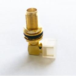 Conector SMAKWE - SMA 90 Graus Rosca Longa Femea Para PCI