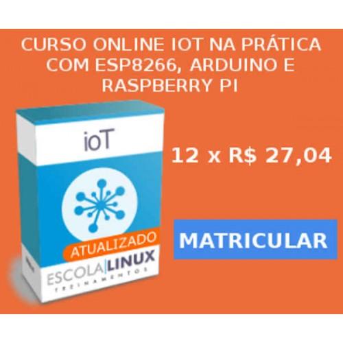 Curso Online - IoT na Prática com ESP8266, Arduino e Raspberry Pi: 14 HORAS