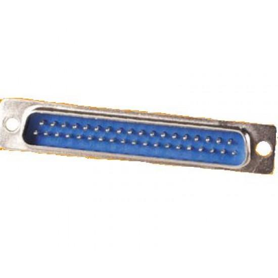 Conector DB37 Macho 180 Graus Solda Placa