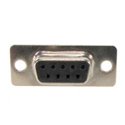 Conector DB9 Femea 180 Graus Solda Placa
