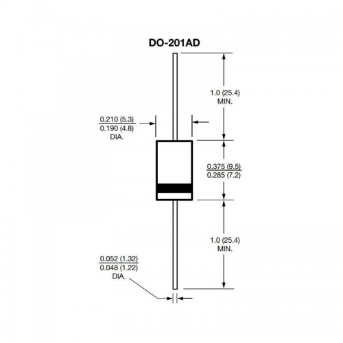 Diodo 1N5408 Retificador de uso Geral 3A 1000V