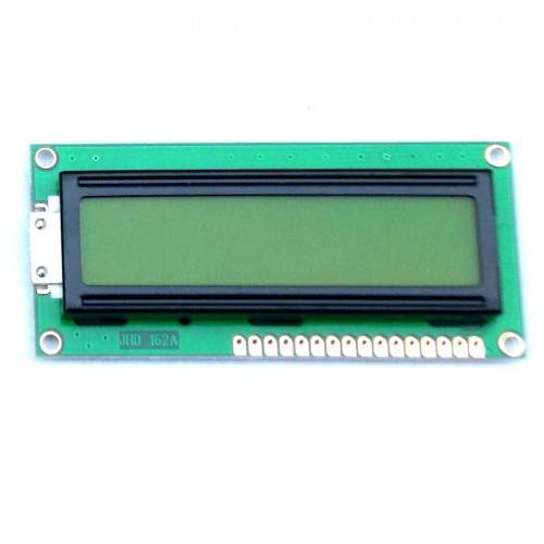 Display LCD 16x2 Back Verde Letra Preta 80x36x13 JHD162A